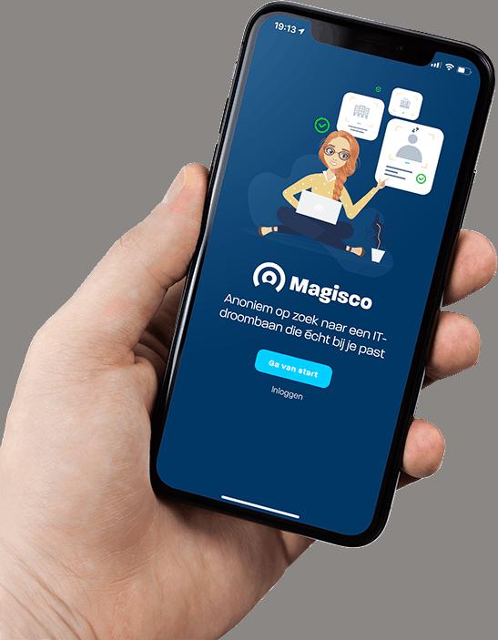Magisco app startscreen